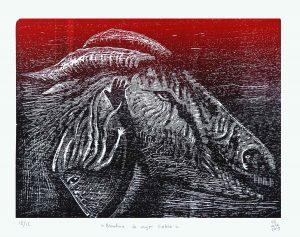 Blandina, la mujer cabra 2019 Grabado, 45 x 35 cm