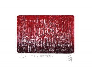 Los cuates 2019Grabado, 25 x 20 cm