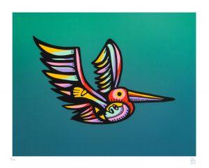 Pelicano hembra 2016 Serigrafía, 46 x 37 cm