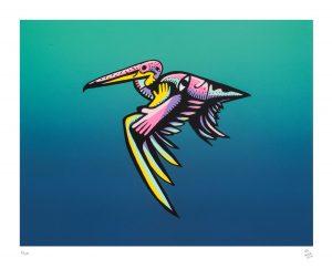 Pelicano macho 2016 Serigrafía, 46 x 37 cm