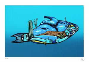 El mundo del pez perico 2018 Serigrafía, 46 x 32.5 cm