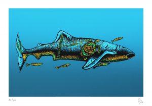 El tiburón ballena 2018 Serigrafía, 46 x 32.5 cm
