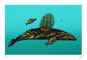 La ballena gris 2018 Serigrafía, 46 x 32.5 cm